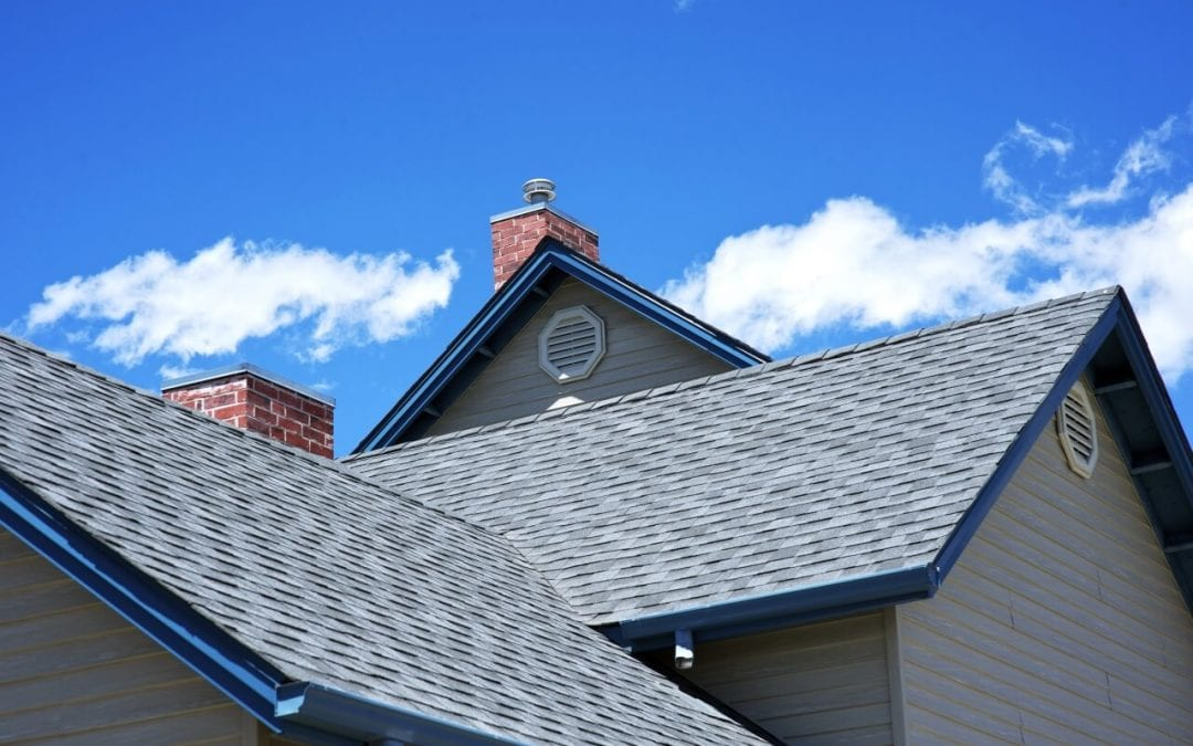 This image shows asphalt shingles, one of many types of roofing materials